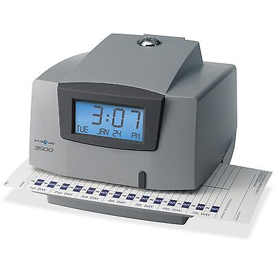 Pyramid Time Systems Light-duty Time Clock Electronic 6x5-12x5 Gycharcoal