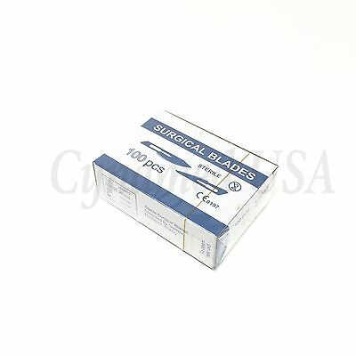 100 Lab Dissection Scalpel Carbon Steel Blades 22 With Blade Remover
