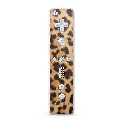 Nintendo Wii Remote Controller Skin Aufkleber Schutzfolie Sticker Leoparden Fell ()