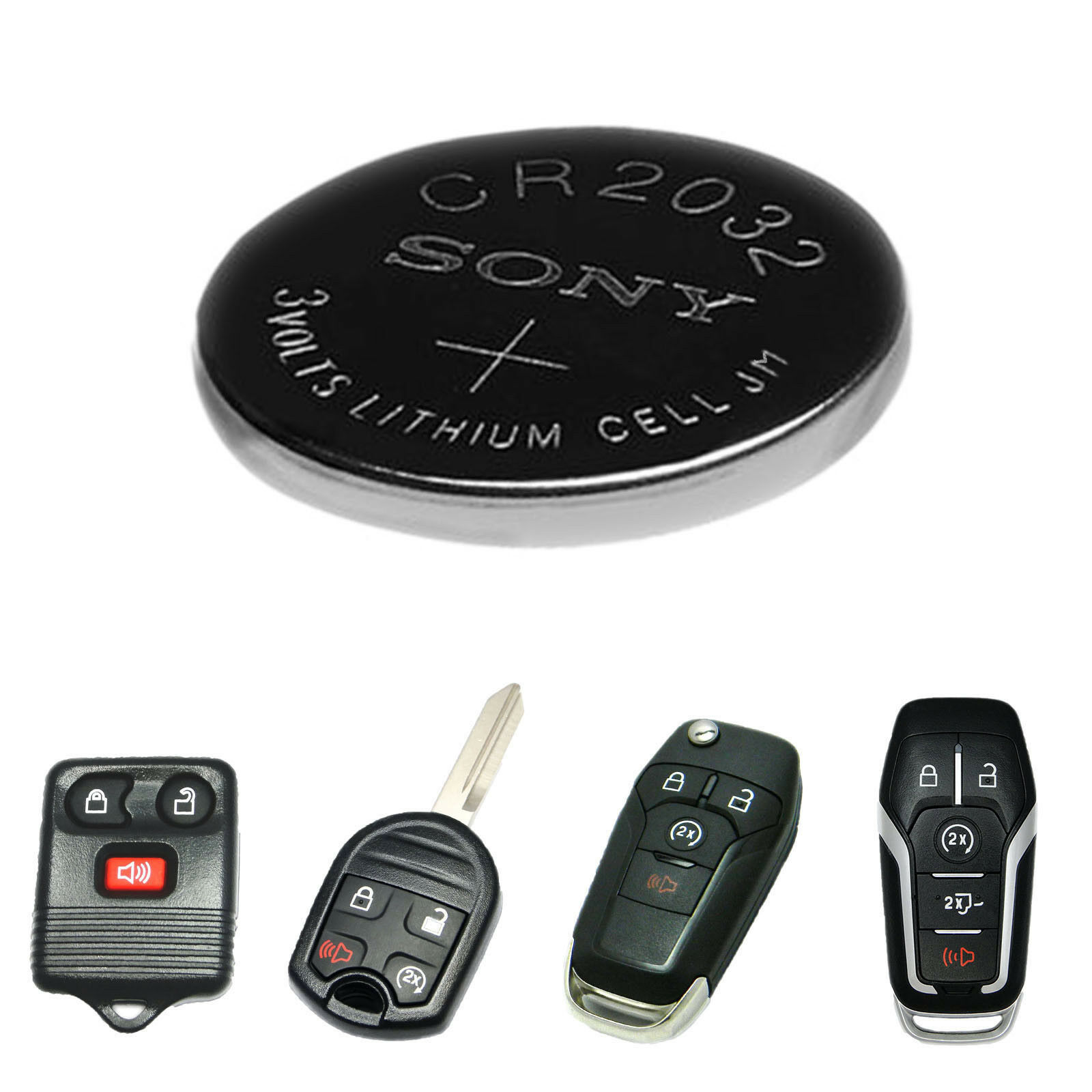 Ford F-150 F150 Key Fob Battery Replacement Remote Unlock Start 1998 - 2017