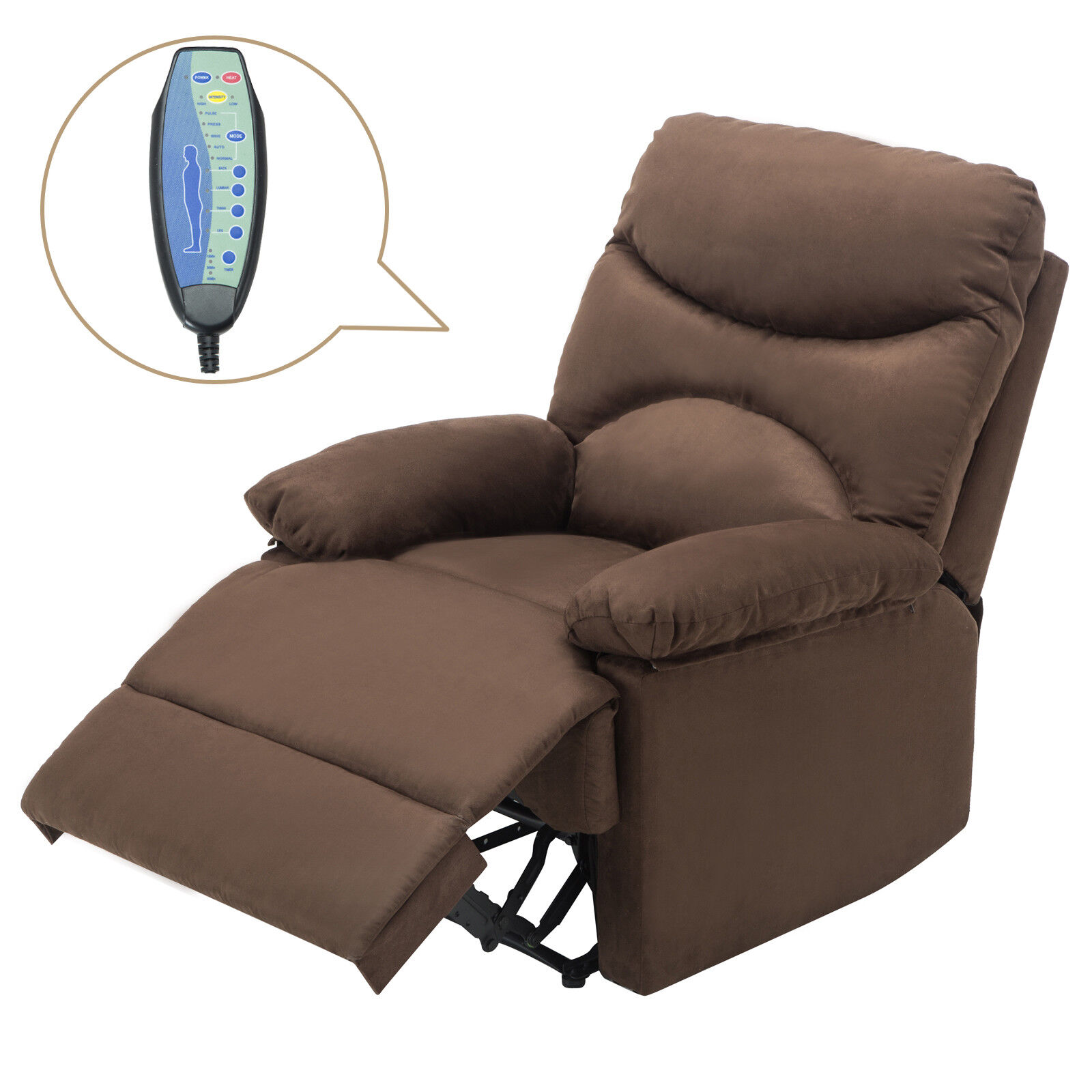 Awe Inspiring Details About Microfiber Massage Recliner Sofa Chair Ergonomic Lounge Swivel Heated W Control Machost Co Dining Chair Design Ideas Machostcouk