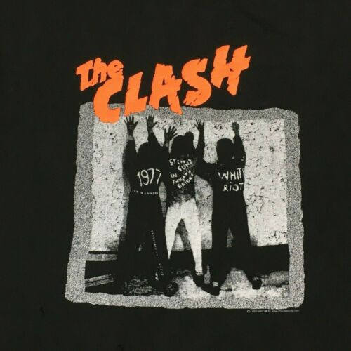Vtg 2003 The Clash tee t-shirt by Machete Adult Size 2XL Thrashed Joe Strummer