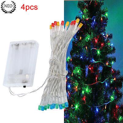 4pcs Luces de Hadas de Cadena 2m 20LED Colorido Para Navidad Interior...