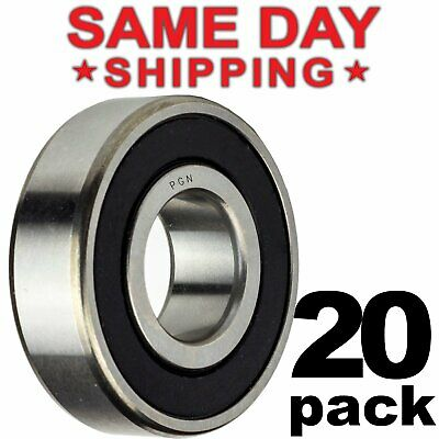 608-2rs Ball Bearing 8x22x7 Two Rubber Sealed Chrome Skateboard 608rs 20 Qty