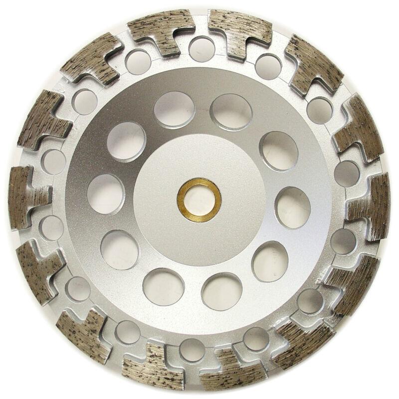 "7"" Premium Diamond Cup Wheel T-segment Grinding Concrete Stone 7/8""-5/8"" Arbor"
