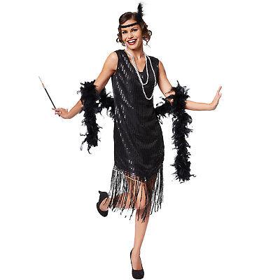 20er Jahre Kleid Kostüm (Frauenkostüm Charleston 20er Jahre Paillettenkleid Jazz Kleid Halloween Carneval)