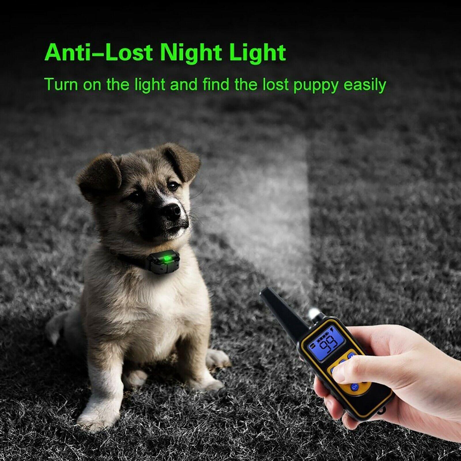 Dog Shock Training Collar Rechargeable Remote Control Waterproof IP67 875 Yards Bark Collars