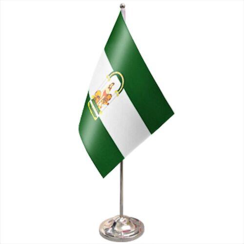 Spain Andalusia Satin & Chrome Premium Table Flag