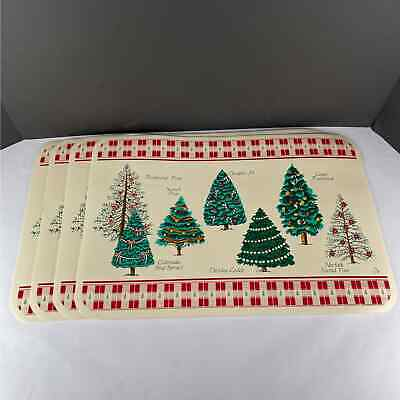 Vintage Christmas Tree Placemats - Set of 4