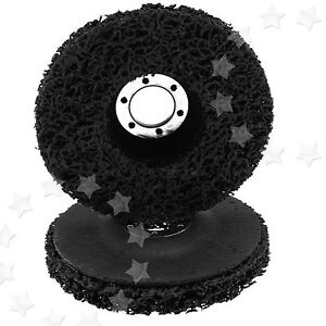 2 PACK PAINT & RUST REMOVER GRINDER WHEEL DISC FOR 115MM X 22.2MM ANGLE GRINDERS