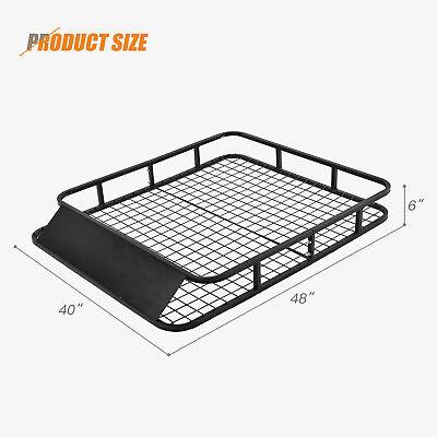 "48"" x 40"" Universal Roof Rack Basket Car Top Luggage Carrier Cargo Holder Travel"