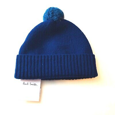 Paul Smith Wool Navy Cable Knit Beanie Winter Hat Mens NWT $95