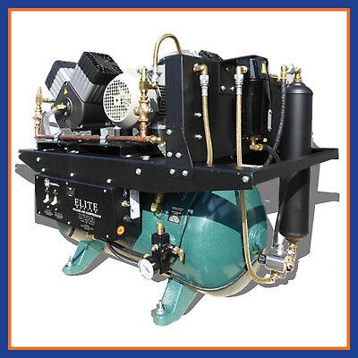 Tech West 4.5 Hp Triple Head Elite Oilless Air Compressor 8-10 Users Aco6t2