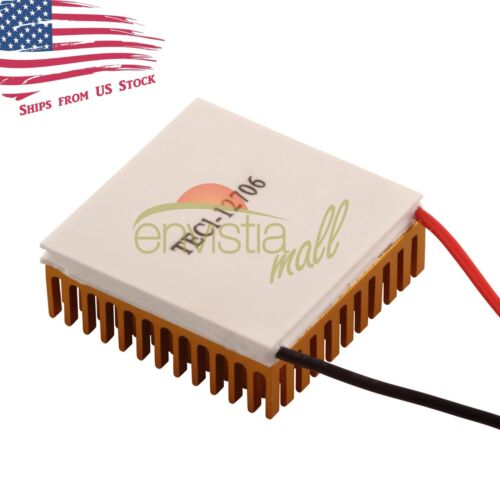12V 60W Thermoelectric Cooler TEC Peltier Module with Heatsink Kit TEC1-12706 US