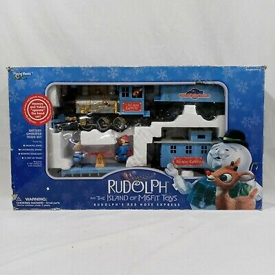 Rudolph's Red Nose Express Island Of Misfits Toys Christmas Train Set