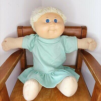 Original Cabbage Patch Kid Vintage Xavier Roberts Coleco 1978-1982 blonde dress