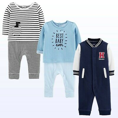 Baby Boys Jumpsuit Coverall 1Pc Long Sleeve Footless Romper NWT Carters Warm