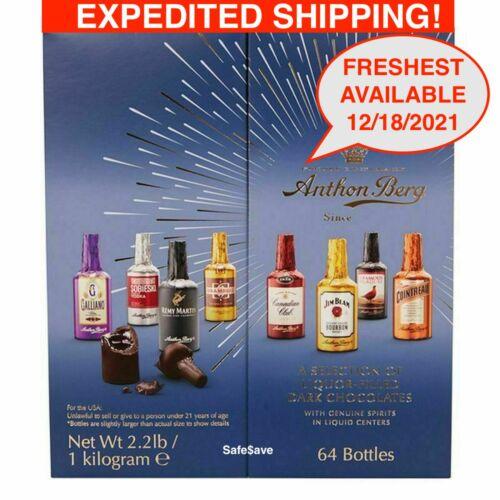 Anthon Berg Dark Chocolate Liqueur Liquor filled Bottles 64 Pcs NEW 12/18/2021
