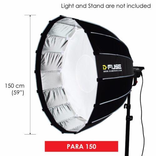 "D-fuse 59"" / 150cm Para Softbox: Inner & Outer Diffusion Parabolic Umbrella"
