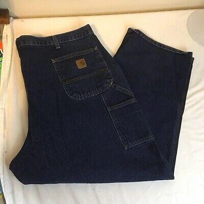 3d16431c6d7 Carhartt Mens Denim Jeans Blue 100% Cotton Carpenter 46W 30L Dungaree Fit  FS!