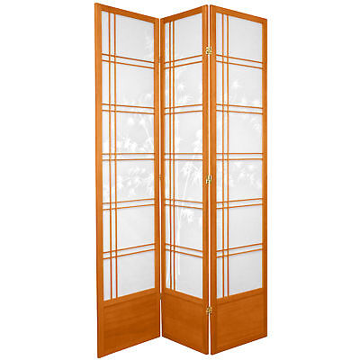 Oriental Furniture 7 ft. Tall Double Cross Bamboo Tree Shoji Screen Double Crossed Bamboo Tree