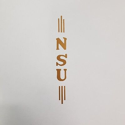 Aufkleber * NSU * gold * Sticker * Logo * Oldtimer * Fahrrad * Abziehbild
