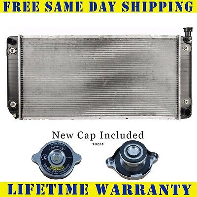 Radiator With Cap For Chevy Gm Fits Suburban Escalade Tahoe Pickup W/Eoc 1522WC