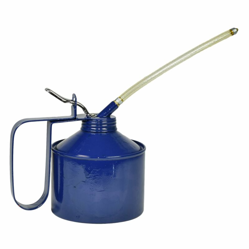 1-1/2 Pint Oil Lubricant Metal Can with Flexible Spout Thumb Pump Trigger
