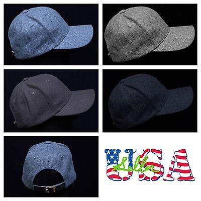 Men's Women 100% Wool Cap Baseball Caps Hats Unisex Casual F