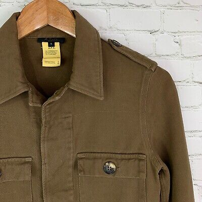 Women's Vintage A.P.C (S) Brown Military Style Cotton/Wool