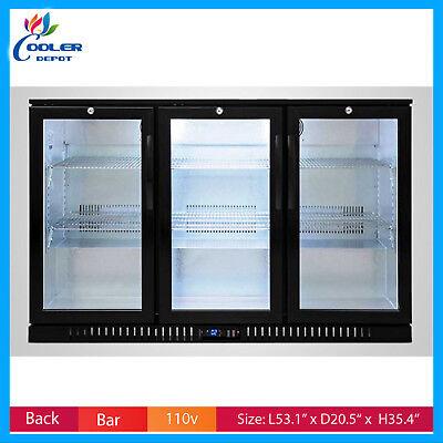Back Bar Refrigerator Bb3 Glass Door Commercial Beer Bottle Nsf Cooler Depot New