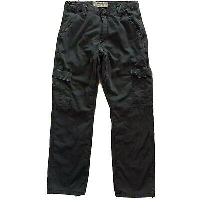 Wranger Authentics Mens Fleece Lined Twill Cargo Pants Sz 30x30 100% Cotton Grey