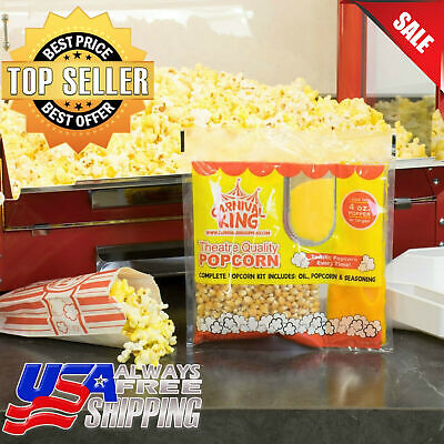 24case Carnival King All-in-one Popcorn Kit For 4 Oz. Popper Ready To Use Pop