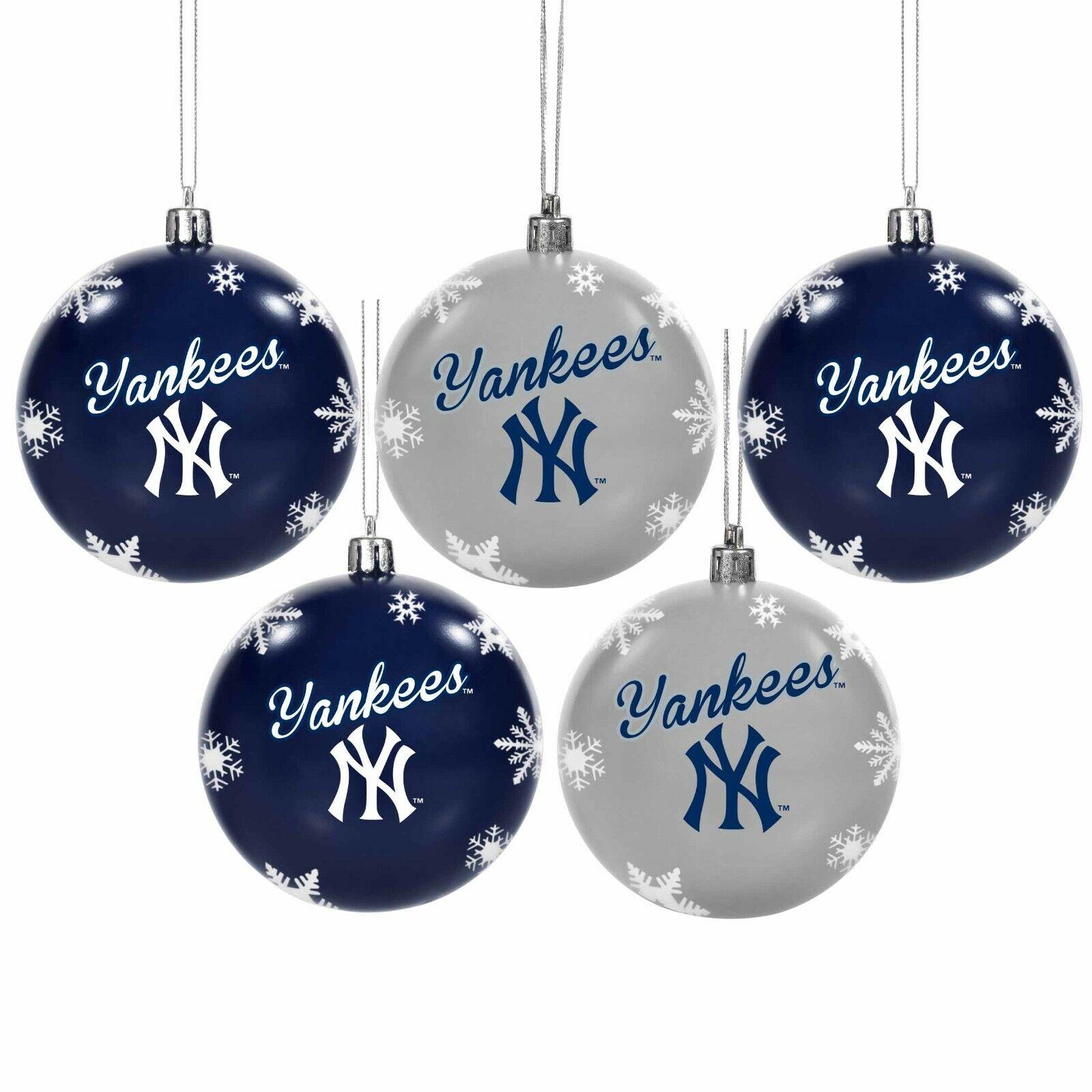 New York Yankees Shatterproof BALLS Christmas Tree Holiday O