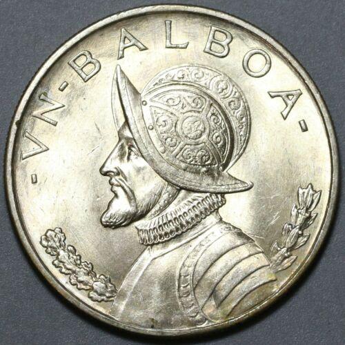 1947 Panama Balboa UNC 90% Silver Dollar Coin (20070303R)