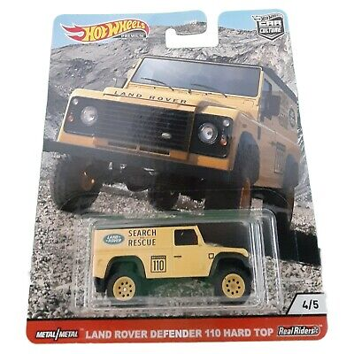 Hot Wheels All-Terrain Land Rover Defender 110 Hard Top 1:64 Yellow 4 of 5 956Q