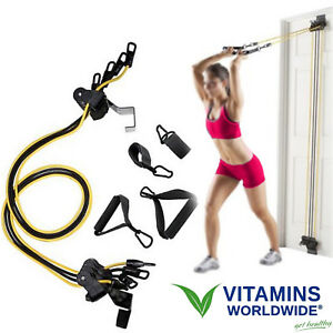 HOME GYM EQUIPMENT Total Body Fitness Workout Door Attached Resistance Bands  sc 1 st  eBay & Door Gym | eBay