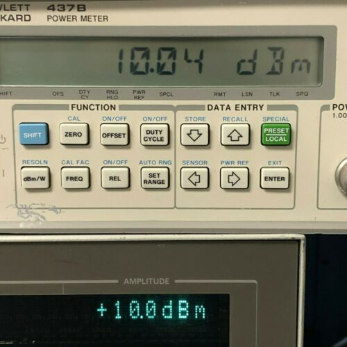 HP/ Keysight/ Agilent 437B High Performance Single Channel Power Meter TESTED