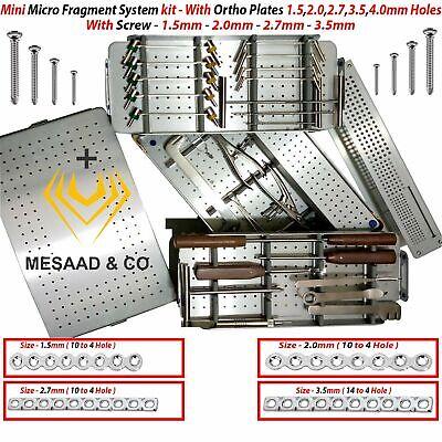 Orthopedic Mini Micro Fragment Vet System Set 1.5 - 2.0 - 2.7 - 3.5 By Mesaad