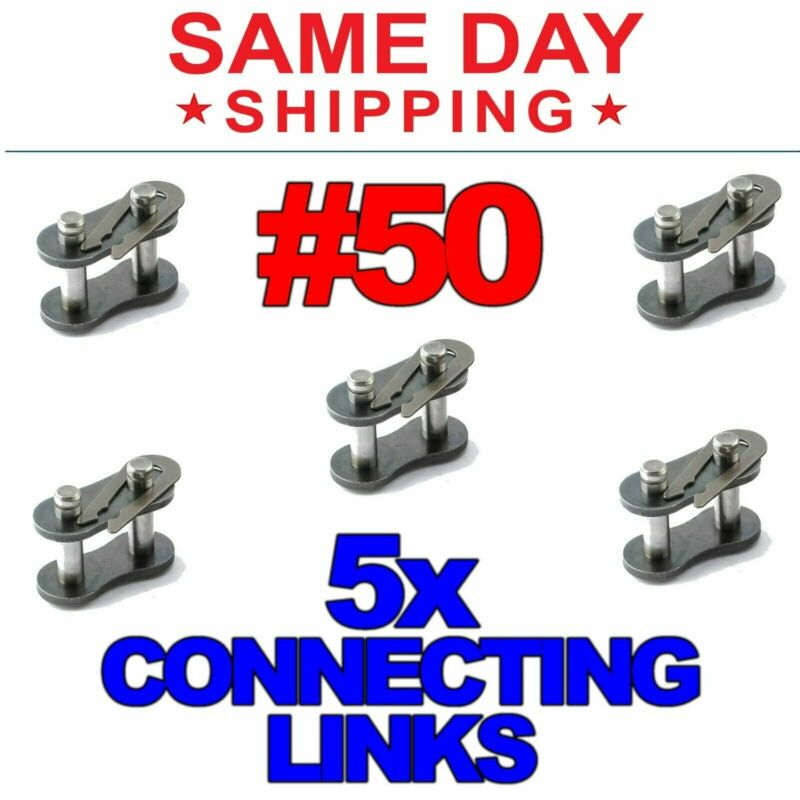 #50 Roller Chain Connecting Links (Lot of 5)
