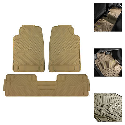 Car Floor Mats for All Weather Rubber Tactical Fit Heavy Duty Beige