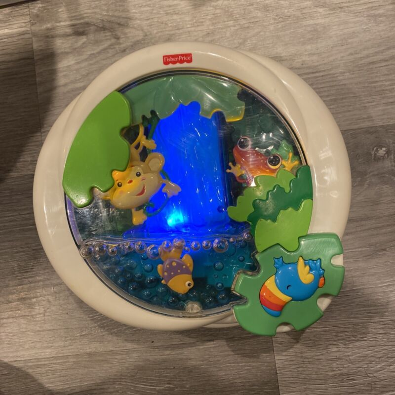Fisher Price Mattel Rain Forest Light up Musical Animated Crib Attachable 2006