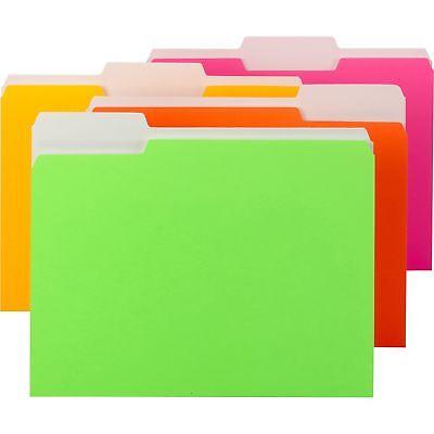 Smead File Folder Letter 13 Tab Neon Colors 11925