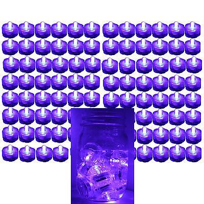 96 PURPLE LED Submersible Waterproof Merger Floral Decoration Tea Vase Light US