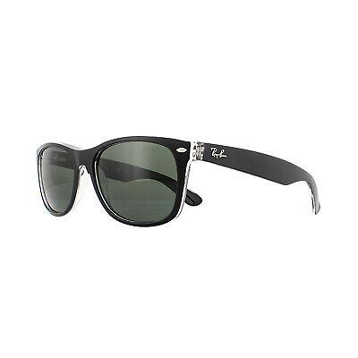 Ray-ban Sonnenbrille Neu Wayfarer 2132 6052 Schwarz auf Transparent Grün L