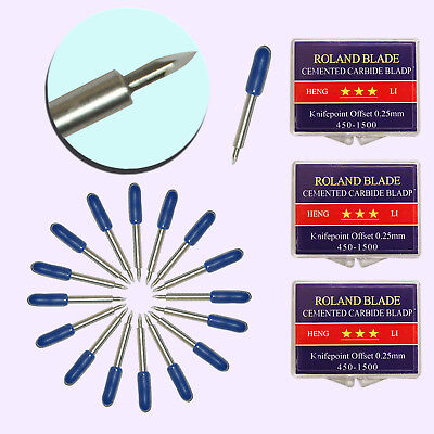 15 Pcs 60 Roland Cutting Bladeknife For Cutting Plotter Sharp Small Letters