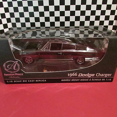 Ertl, Amer Muscle Authentics, 1966 Dodge Charger,1:18 scale,RARE! black chrome
