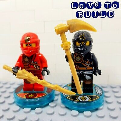 ⭐ LEGO Dimensions Cole + Kai Minifigures + Tags from Team Pack 71207 Ninjago