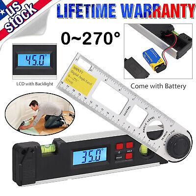 0270lcd Digital Inclinometer Protractor Spirit Level Angle Finder Gauge Meter