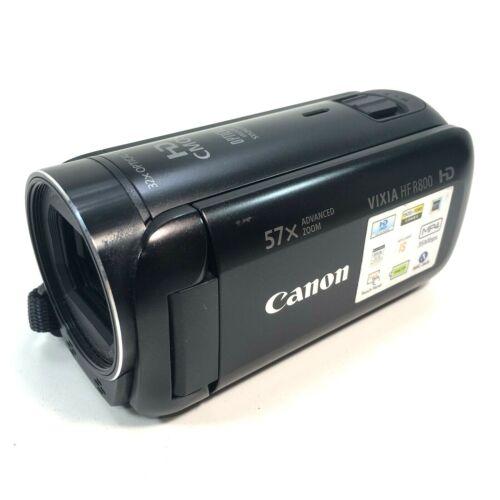Canon Vixia HF R800 Camcorder Handheld Camera Black 1080p Video 57x CAMERA ONLY